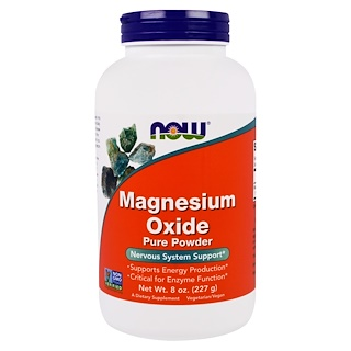 Now Foods, Magnesium Oxide Pure Powder, 8 oz (227 g)