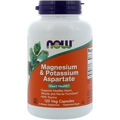 Now Foods, マグネシウム & アスパラギン酸カリウム、120カプセル