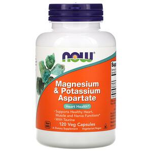Now Foods, Magnesium & Potassium Aspartate, 120 Veg Capsules отзывы покупателей