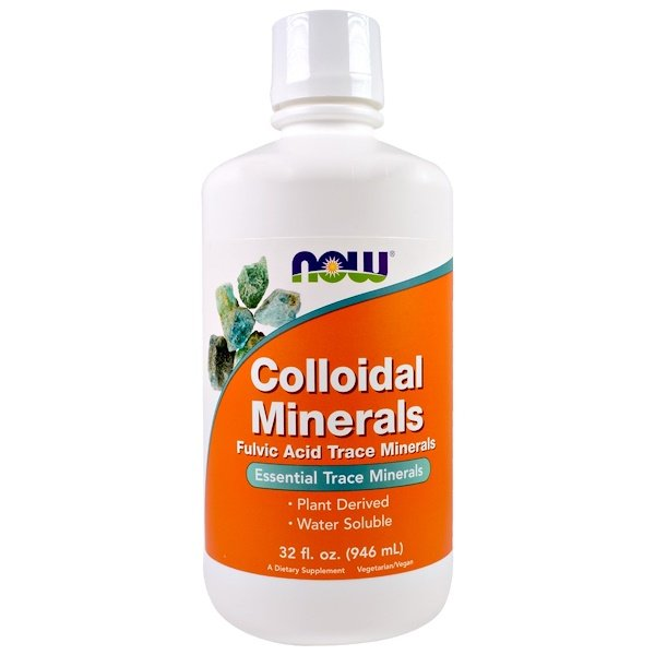 Now Foods, Minerais coloidais, 946 ml