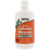 Коллоидные минералы, с натуральным вкусом малины, 32 жидких унций (946 мл) - фото