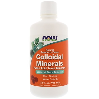 Now Foods, Colloidal Minerals, Natural Raspberry Flavor, 32 fl oz (946 ml)