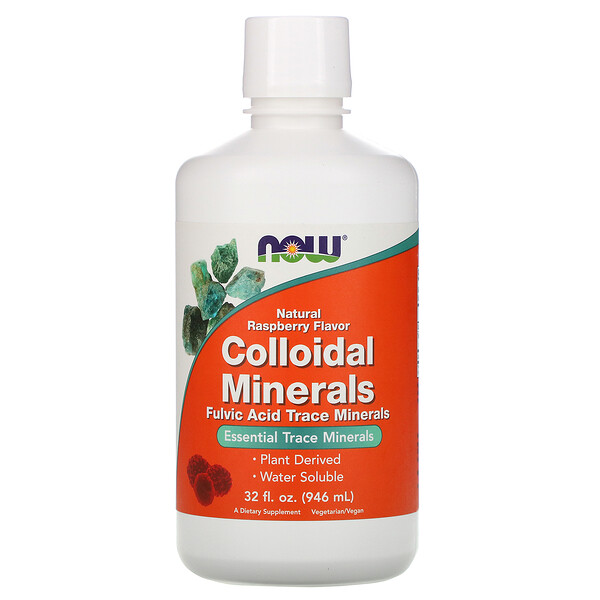 Colloidal Minerals, Natural Raspberry Flavor, 32 fl oz (946 ml)