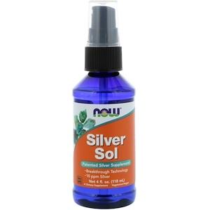 Now Foods, Silver Sol, 4 жидких унции (118 мл)