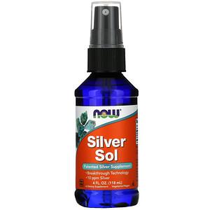 Now Foods, Silver Sol, 4 fl oz (118 ml) отзывы покупателей