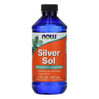 Now Foods, Silver Sol، 8 أونصات سائلة (237 مل)