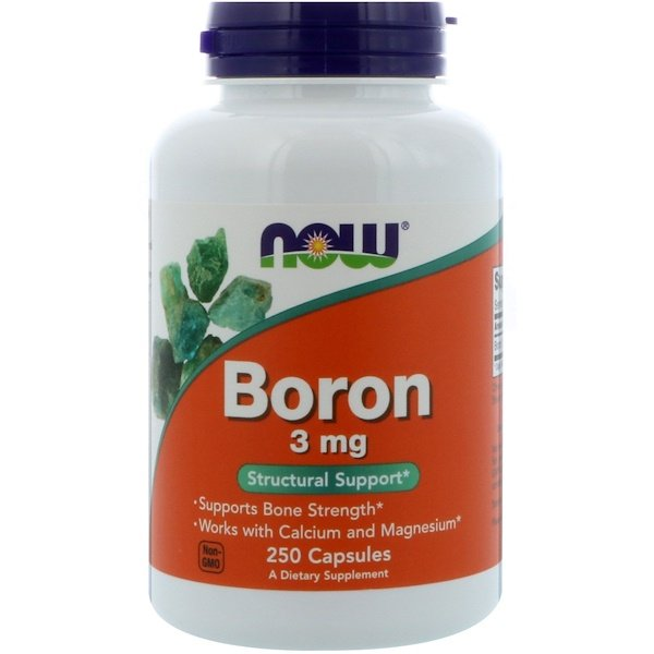 Now Foods, Bore, 3 mg, 250 Capsules