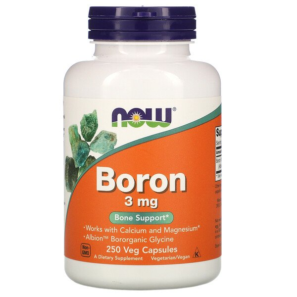 Now Foods, Boron, 3 mg, 250 Veg Capsules