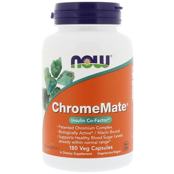 Now Foods, ChromeMate, 180 Veg Capsules