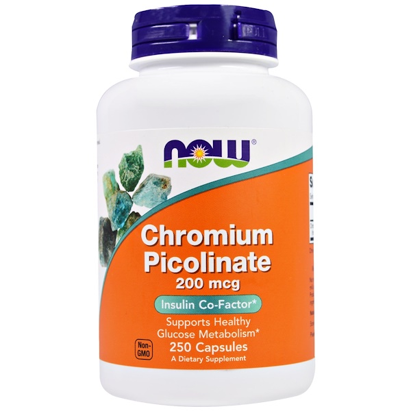 Now Foods, Chromium Picolinate, 200 mcg, 250 Capsules