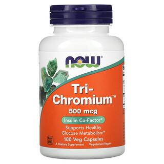 Now Foods, Tri-Chromium, 500 mcg, 180 Veg Capsules