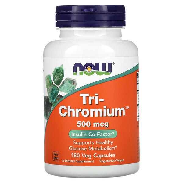Tri-Chromium, 500 mcg, 180 Veg Capsules