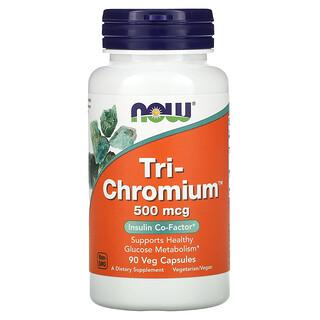 Now Foods, Tri-Chromium, 500 mcg, 90 Veg Capsules
