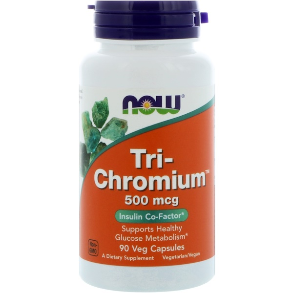 Now Foods, Tri-Chromium, 500 mcg, 90 Cápsulas Vegetarianas