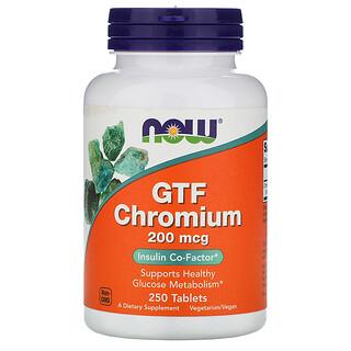 Now Foods, GTF Chromium, 200 mcg, 250 Tablets