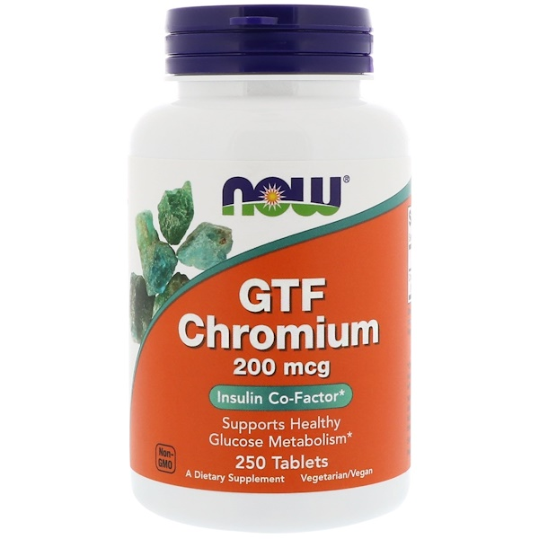 GTF Chromium, 200 mcg, 250 Tablets