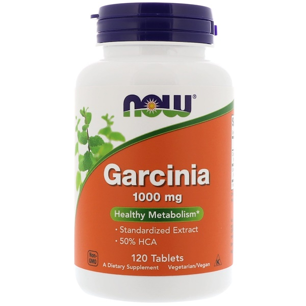 Now Foods, Garcinia, 1.000 mg, 120 Tabletten