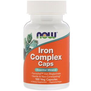 Now Foods, Iron Complex Caps, 100 Veg Capsules отзывы