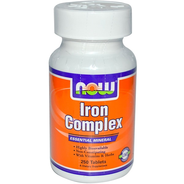Now Foods, Iron Complex, 250 Tablets (Discontinued Item)