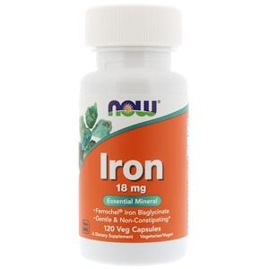 Now Foods, Iron, 18 mg, 120 Veg Capsules отзывы покупателей