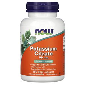 Now Foods, Potassium Citrate, 99 mg, 180 Veg Capsules отзывы покупателей