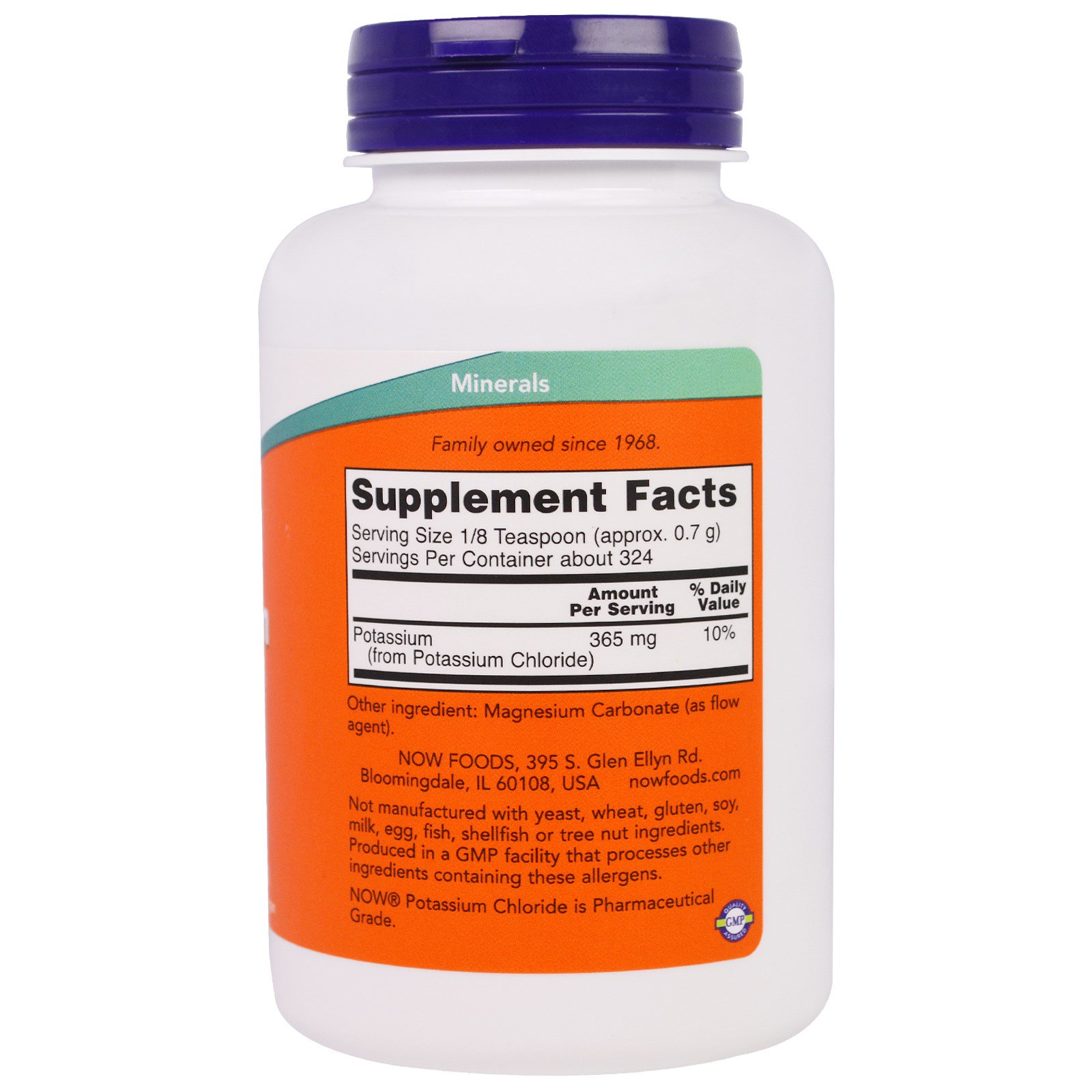 Now Foods, Potassium Chloride Powder, 8 oz (227 g) - iHerb.com