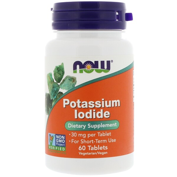 Now Foods, Potassium Iodide, 30 mg, 60 Tablets