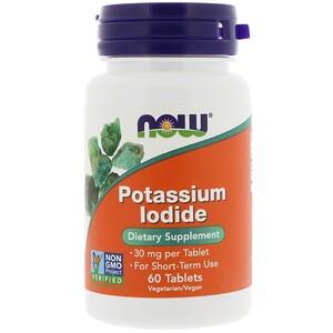 Now Foods, Potassium Iodide, 30 mg, 60 Tablets отзывы покупателей