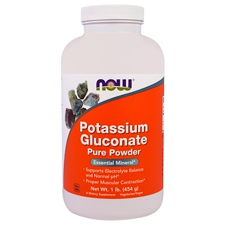 Now Foods, Potassium Gluconate Pure Powder、1ポンド(454 g)