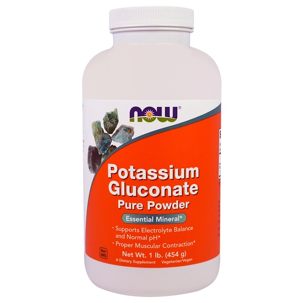 Potassium Gluconate Pure Powder, 1 lb (454 g)