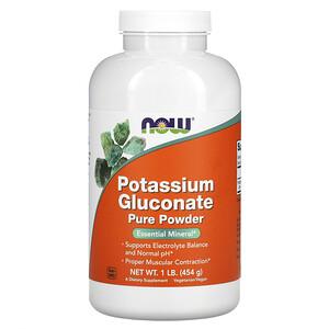 Now Foods, Potassium Gluconate Pure Powder, 1 lb (454 g) отзывы покупателей
