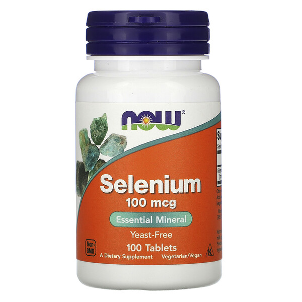 Now Foods, Selenium, 100 mcg, 100 Tablets