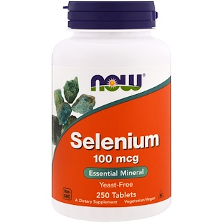 Now Foods, Selen, ohne Hefe, 100 ╡g, 250 Tabletten