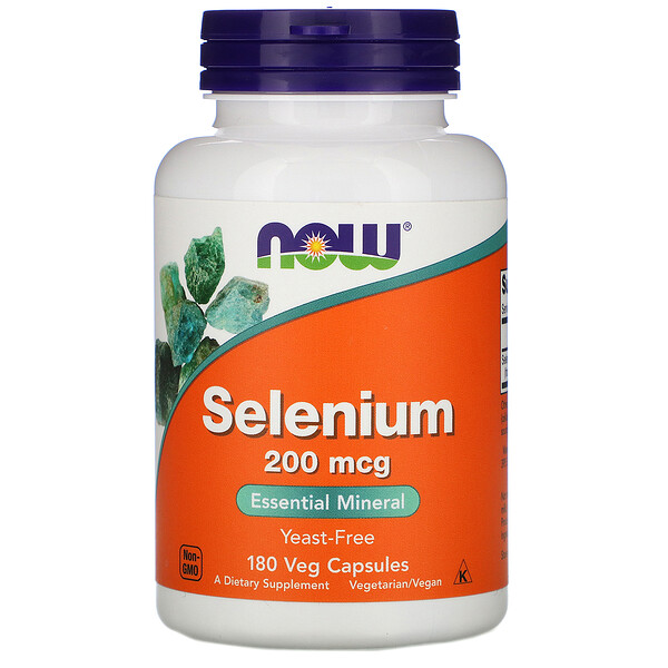 Selenium, 200 mcg, 180 Veg Capsules