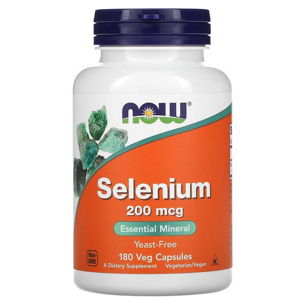 Now Foods, سيلينيوم، 200 مكجم، 180 كبسولة نباتية