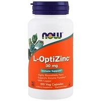 L-OptiZinc, 30мг, 100растительных капсул - фото
