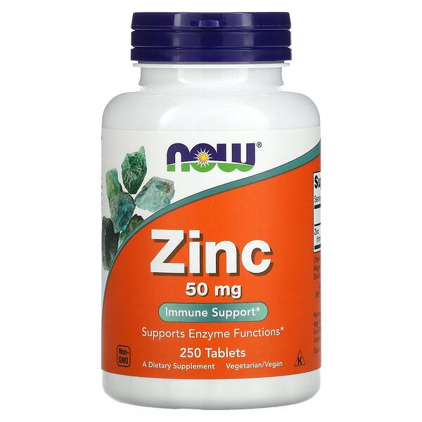 Zinc, 50 mg, 250 Tablets