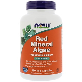Now Foods, Red Mineral Algae, 180 Veg Capsules