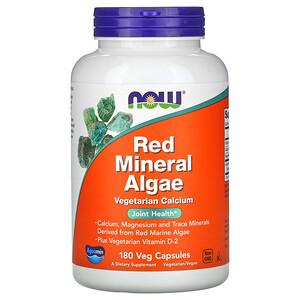 Now Foods, Red Mineral Algae, 180 Veg Capsules отзывы покупателей
