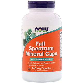Now Foods, Full Spectrum Minerals Caps, 240 Veg Capsules