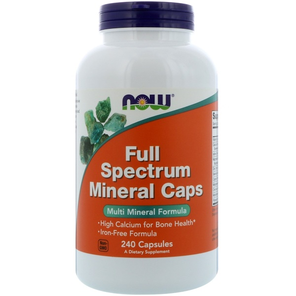 Now Foods, Full Spectrum Minerals Caps, 240 Capsules