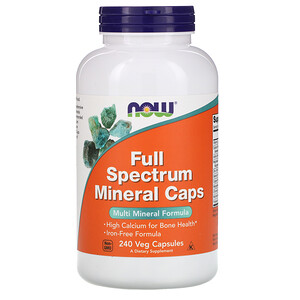 Now Foods, Full Spectrum Minerals Caps, 240 Veg Capsules отзывы покупателей