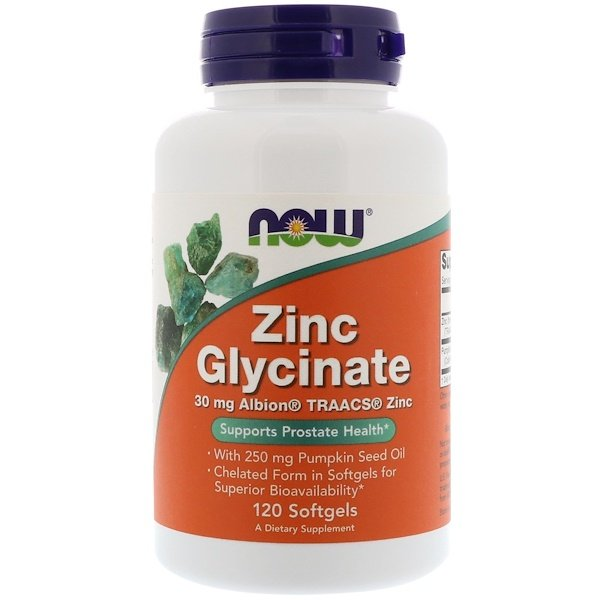 Zinc Glycinate, 120 Softgels