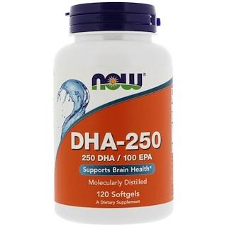 Now Foods, DHA-250、ソフトジェル120個