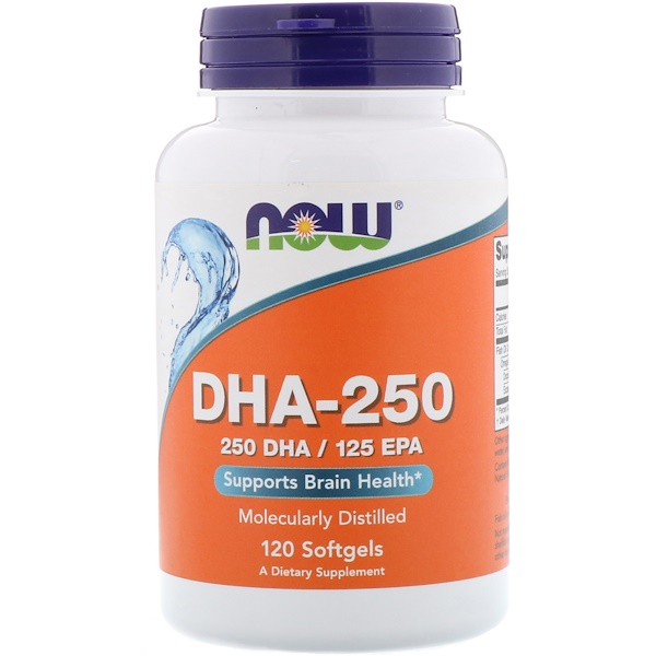 Now Foods, DHA-250/EPA-125, 120 Softgels