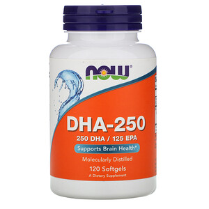Now Foods, DHA-250, 120 Softgels отзывы