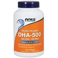 DHA-500/EPA-250, двойная сила, 180 мягких капсул - фото