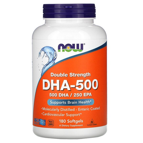 DHA-500, Double Strength, 180 Softgels
