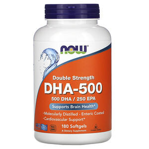 Now Foods, DHA-500, Double Strength, 180 Softgels отзывы покупателей