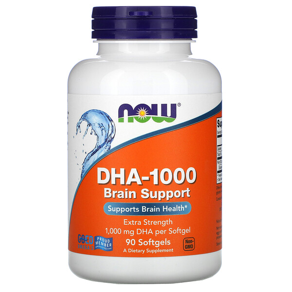 DHA-1000 Brain Support, Extra Strength, 1,000 mg, 90 Softgels